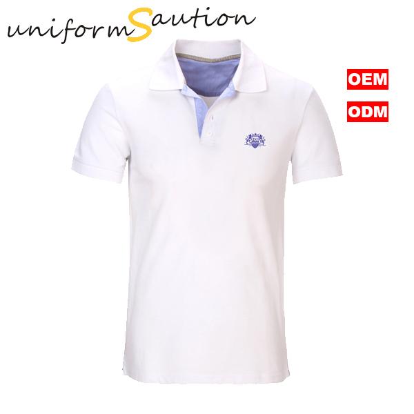 a6cb1e026 Custom combed cotton white stylish polo shirt for man